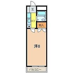 カーサトキ[201号室]の間取り