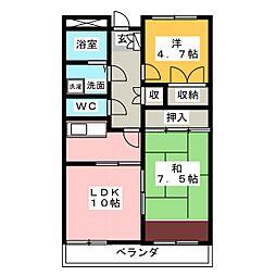 パレ・ソレイユ[3階]の間取り