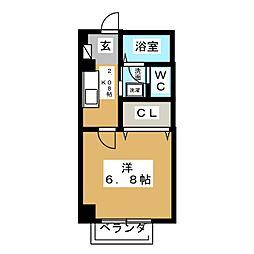 コーポ春[2階]の間取り