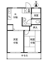 神奈川県川崎市高津区久地3丁目の賃貸アパートの間取り