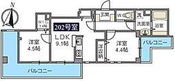 ふりゑ横浜[202号室号室]の間取り