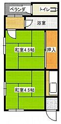 天畠アパート[2階]の間取り