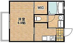サンヴィレッタ[1階]の間取り