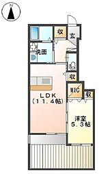 プランドールM&NII[1階]の間取り