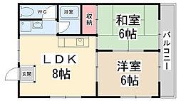 岡本マンション[201号室]の間取り