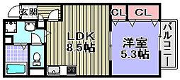 ピアチェーレ[1-205号室]の間取り