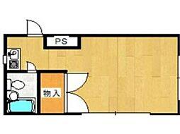 シルクハウス散田[3階]の間取り