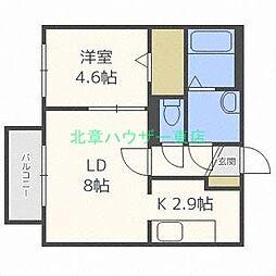 北海道札幌市東区北十七条東14丁目の賃貸マンションの間取り