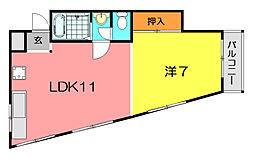 池田マンション[2階]の間取り