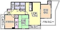 エステ-トマンション医大前弐番館[201号室]の間取り