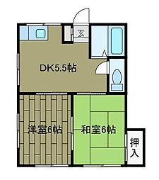 神奈川県相模原市中央区相生3丁目の賃貸アパートの間取り