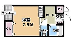 レユシール門真[2階]の間取り