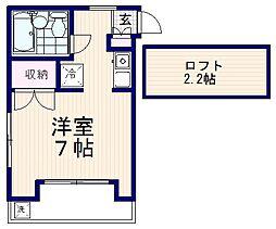 プチ・ボヌール[3階]の間取り