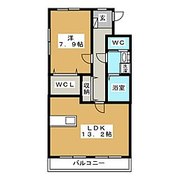 アルバクオーレ A棟[3階]の間取り
