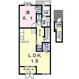 ラッフィナート III[2階]の間取り