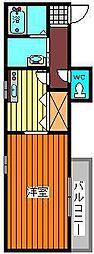 クレッシェンドマンション[102号室]の間取り