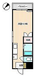 山口県下関市熊野町2丁目の賃貸マンションの間取り