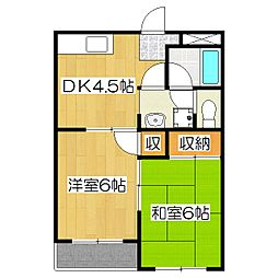 レジデンス京橋[1階]の間取り