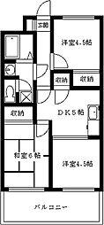 コスモビル[7階]の間取り