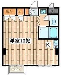 神奈川県横浜市青葉区荏田北2丁目の賃貸マンションの間取り