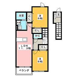 ジュネスI[2階]の間取り