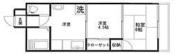 ハイツ藤[305号室]の間取り