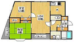 グローバル伊丹[303号室]の間取り