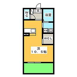 CASA広幡[1階]の間取り