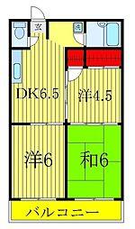 第二青木マンション[201号室]の間取り
