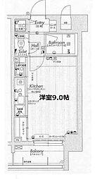 ラナップスクエア福島II[4階]の間取り