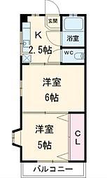 宇田川マンション[2階]の間取り