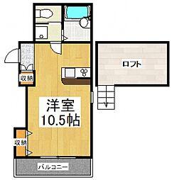 ドミール所沢III[2階]の間取り
