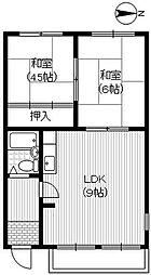 コーポ渚[2階]の間取り
