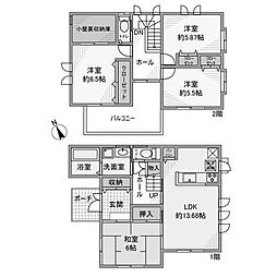 [一戸建] 神奈川県相模原市南区鵜野森3丁目 の賃貸【/】の間取り