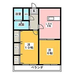 浅田ビル[3階]の間取り