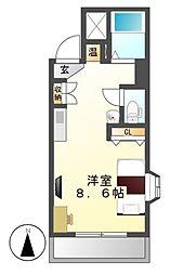 ノーブルハウス吉田[4階]の間取り