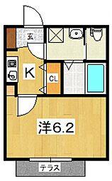 my residence鴨宮駅前[105号室号室]の間取り