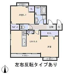 グリーンハイツ (大樹寺)[1階]の間取り