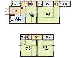 [一戸建] 京都府京都市左京区修学院中林町 の賃貸【/】の間取り