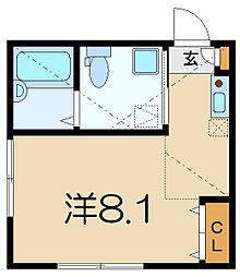 神奈川県横浜市南区永田東3の賃貸アパートの間取り