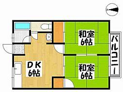 兵庫県神戸市垂水区旭が丘1丁目の賃貸アパートの間取り