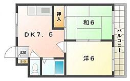 シャトー戸田[3階]の間取り