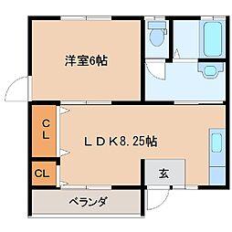 クローバーハウス[2-2号室]の間取り