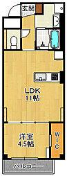 (仮称)K様 賃貸マンション 1階1LDKの間取り