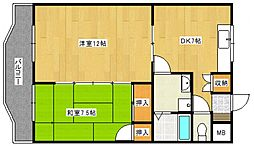 PLEAST御井駅前[2階]の間取り