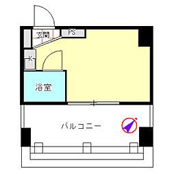 トップルーム横浜[0708号室]の間取り