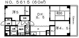 天王寺スカイハイツ[10階]の間取り