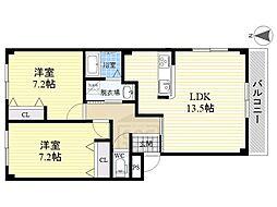 リデンテ[3階]の間取り