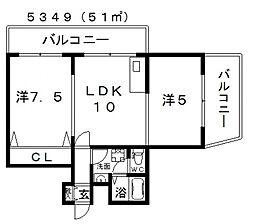 アイライフ[3階]の間取り