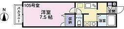 東京都江東区亀戸5丁目の賃貸アパートの間取り